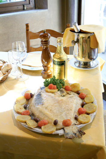 Oven-baked Turbot with potatoes
