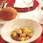 Polenta Gnocchi with scallops and wild fennel